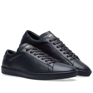 Men's Saint Laurent Navy SL/01 low top sneakers
